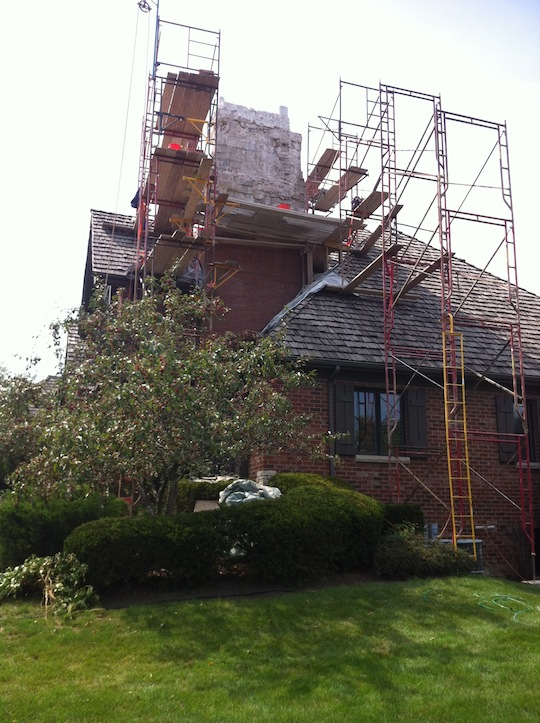 Chimney-rebuild-Burr-ridge-Illionois-before