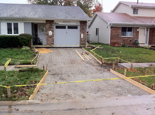 Westmont illinois new concrete driveway and walkways for New concrete driveway
