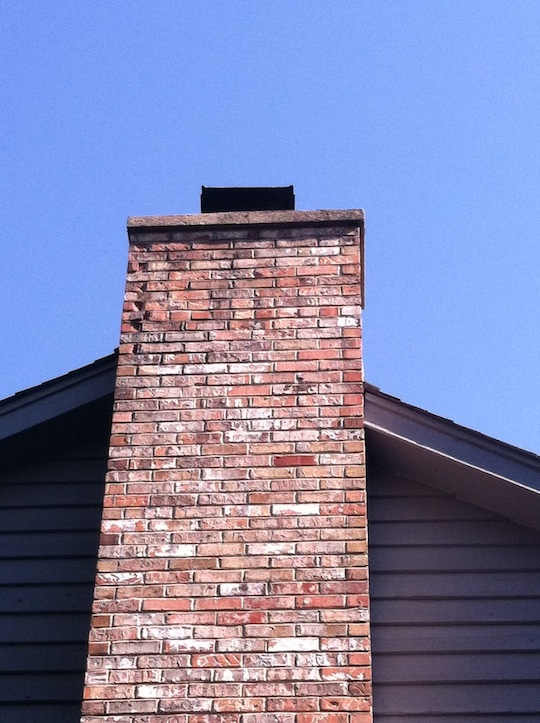 Cement Chimney Repair : Naperville illinois completed chimney repair with tuck