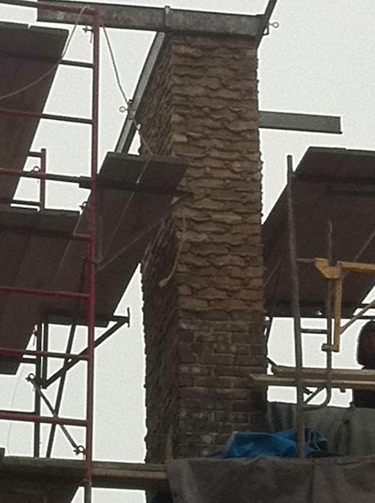 Riverside Brookfield Illinois Brick Chimney repair with Tuck