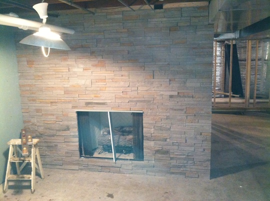 Naperville Illinois New Basement Remodeling New Gas Fireplace ...