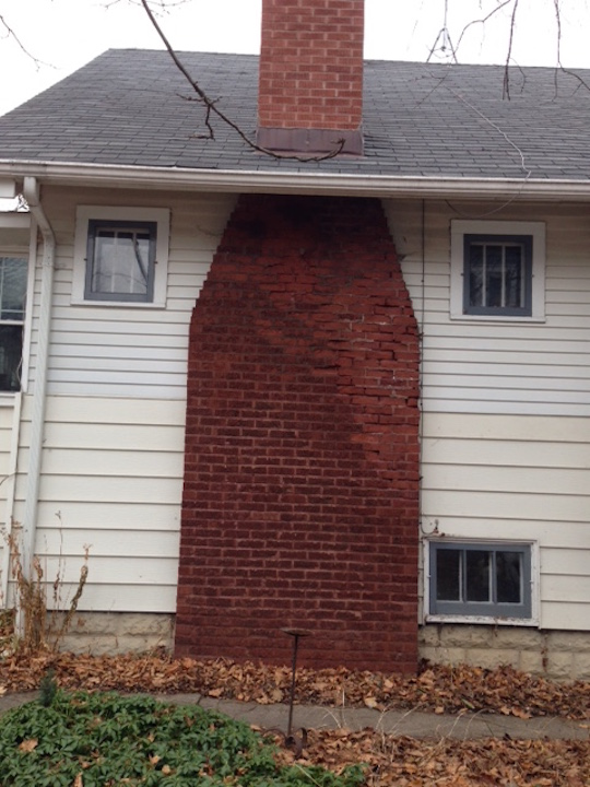 Chicago Oak Park River Forest Illinois Brick Chimney