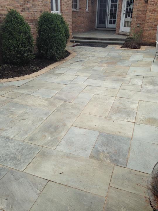 Blue stone patio repair Hinsdale Glen Ellyn