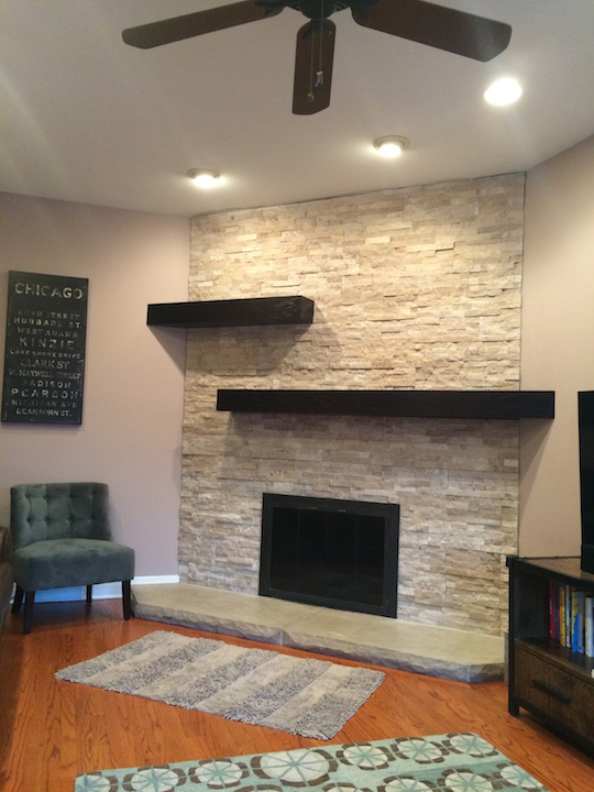 Update Fireplace Chimney New Stone Veneer Chicago Illinois