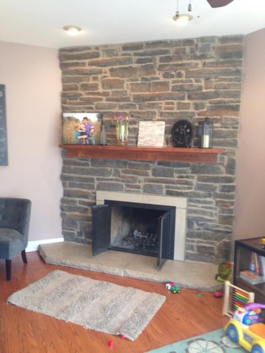 Update Fireplace Chimney New Stone Veneer Chicago Illinois ...