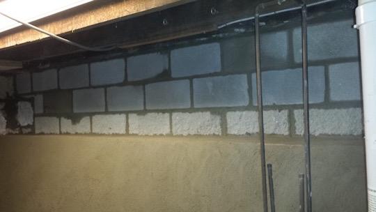 basement foundation wall